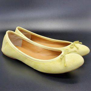 J Crew Flats Ballet Shoes Yellow Sz 8.5 Womens